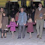 La Infanta Sofía visitando el circo con su familia