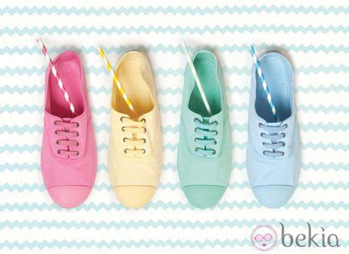 Zapatillas inglesas en tonos pastel de la colección para verano 2014 de Victoria