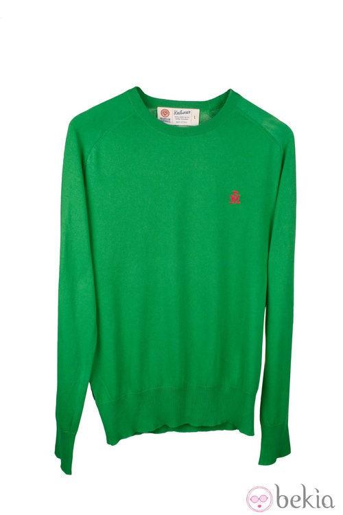 Jersey verde de Aitor Ocio para Closket