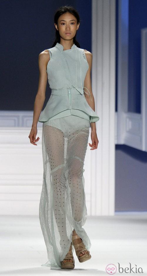 Vestido calado de Vera Wang, colección primavera de 2012