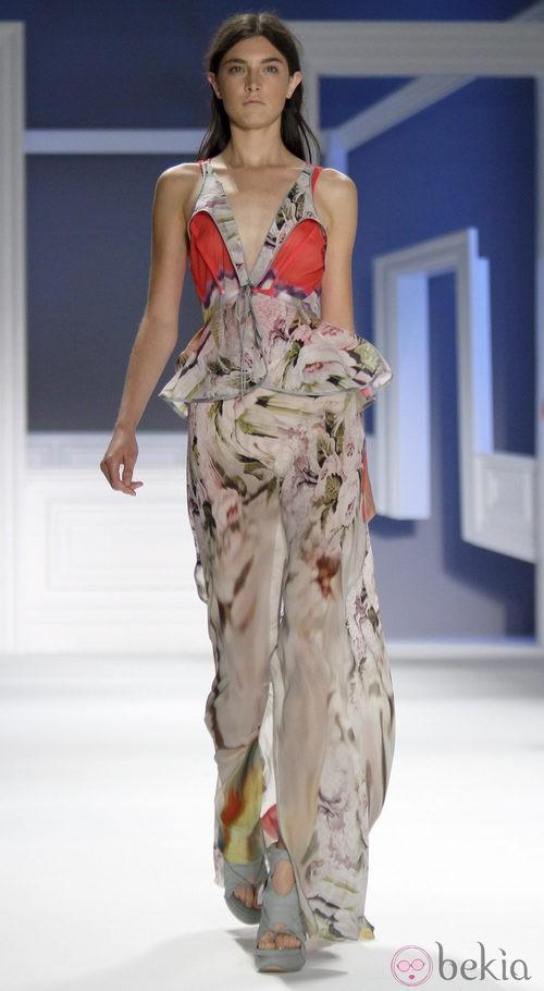 Vestido de noche de Vera Wang, colección primavera de 2012