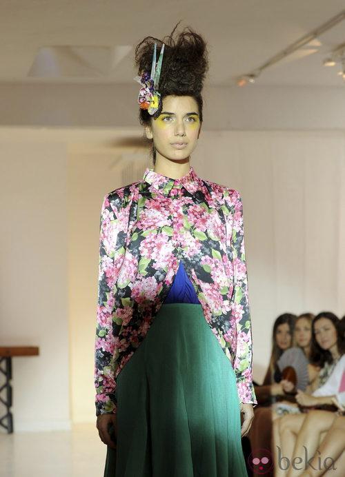 Chaqueta con estampado floral de Josep Font, colección primavera 2012