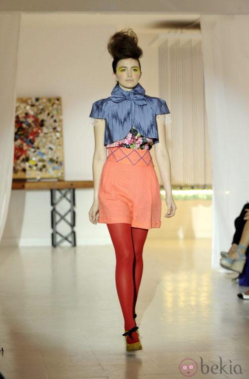 Look con color block de Josep Font, colección primavera 2012