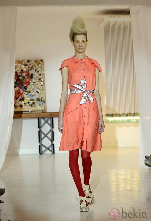 Vestido naranja de Josep Font, colección primavera 2012