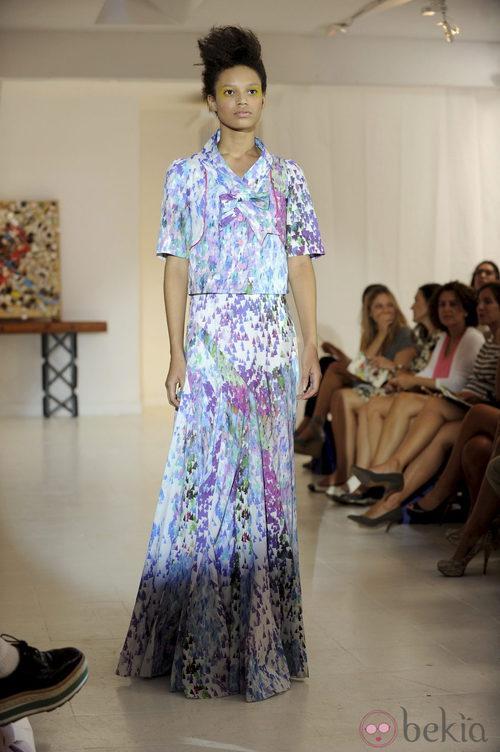 Vestido con estampado geométrico de Josep Font, colección primavera 2012