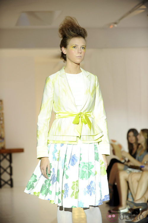 Chaqueta amarilla de Josep Font, colección primavera 2012