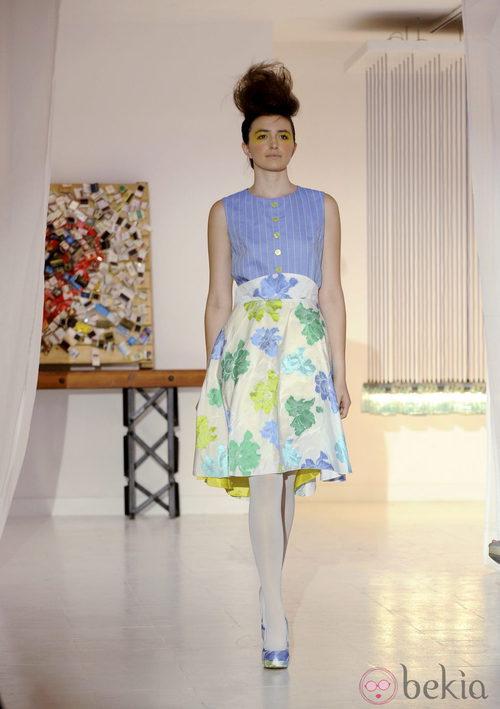 Falda de flores de Josep Font, colección primavera 2012