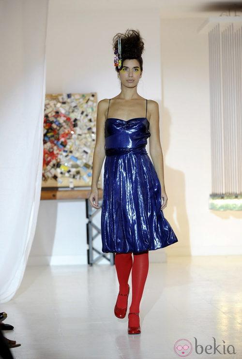 Vestido metalizado de Josep Font, colección primavera 2012