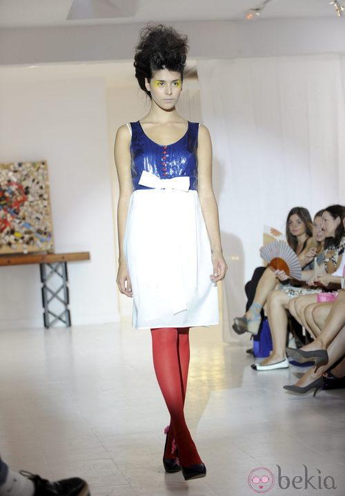 Vestido bicolor de Josep Font, colección primavera 2012