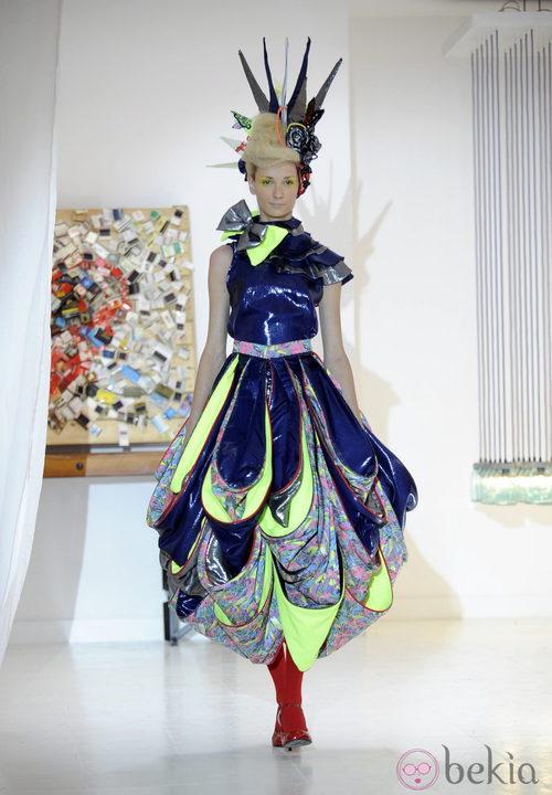 Diseño final del desfile de Josep Font, colección primavera 2012