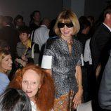 Anna Wintour y Grace Coddington en el desfile de Calvin Klein, colección primavera de 2012