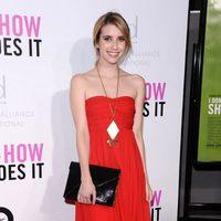 Emma Roberts con vestido de Tibi en la première de 'I don't know how she does it'