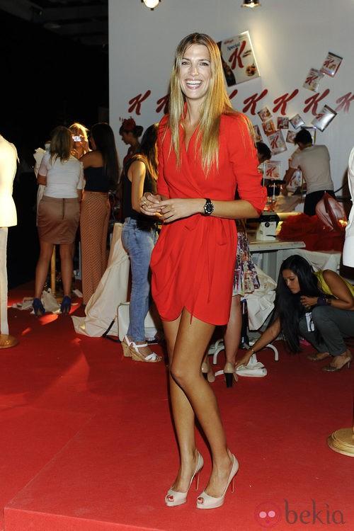 Laura Sánchez promociona unos cereales en la Cibeles Madrid Fashion Week
