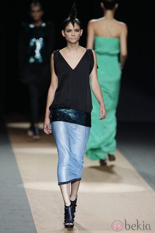 Falda con brillos de Miguel Palacio, colección primavera de 2012