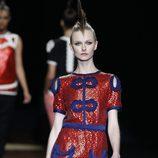 Vestido con lentejuelas rojas de Miguel Palacio, colección primavera de 2012