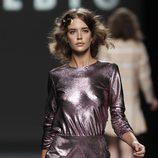 vestido metalizado rosa de Teresa Helbig, colección primavera de 2012