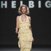 Vestido amarillo de noche de Teresa Helbig, colección primavera de 2012