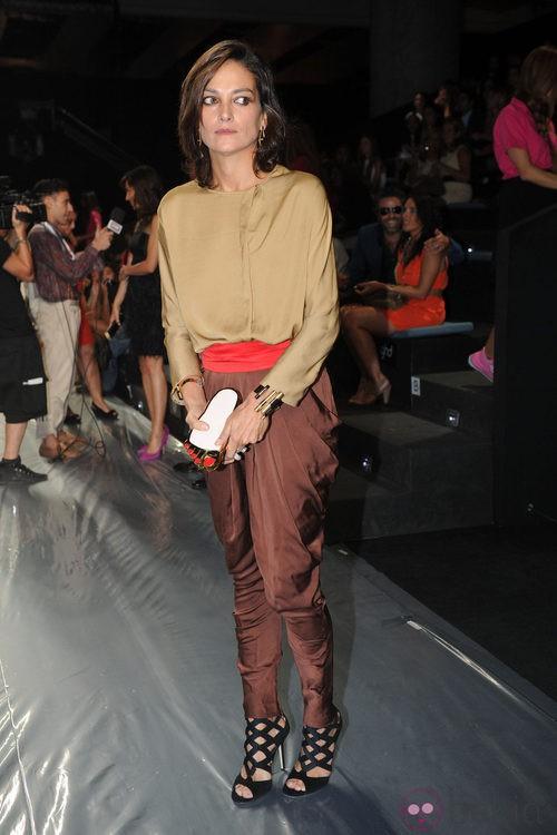 Laura Ponte en el desfile de Miguel Palacio en Cibeles, colección primavera de 2012