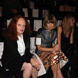 Anna Wintour y Grace Coddington en el desfile de Marc Jacobs, colección primavera de 2012