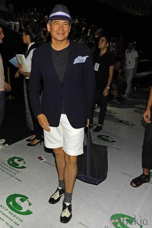 Boris Izaguirre en el desfile de Davidelfín, colección primavera de 2012