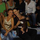 Eva Hache y Bimba Bosé en el desfile de Davidelfín