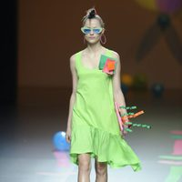 Vestido verde de Ágatha Ruiz de la Prada en Cibeles