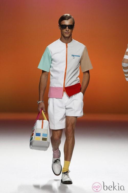 Camisa para hombre con cremallera de Davidelfín, colección primavera 2012