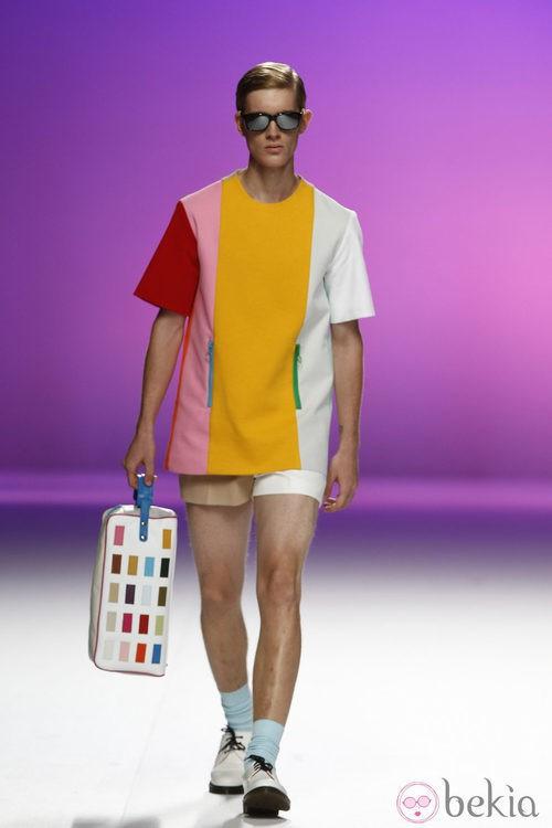 Camiseta multicolor para hombre de Davidelfín, colección primavera 2012