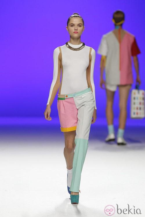 Short y pantalón largo de Davidelfín, colección primavera 2012