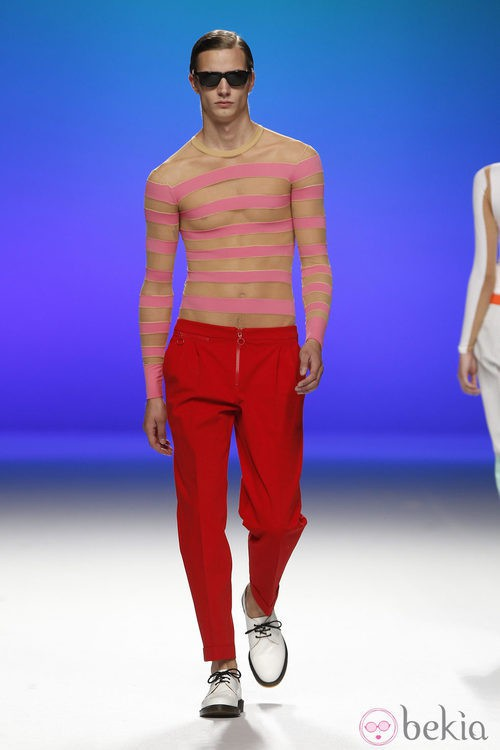Camiseta transparente para hombre de Davidelfín, colección primavera 2012
