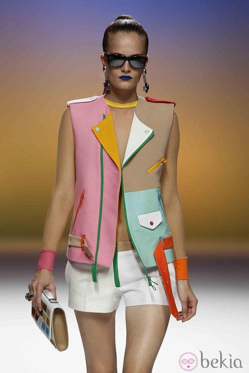 Chaleco multicolor de Davidelfín, colección primavera 2012