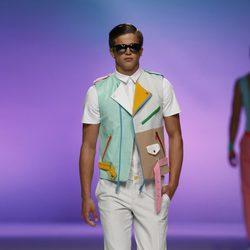 Chaleco multicolor para hombre de Davidelfín, colección primavera 2012