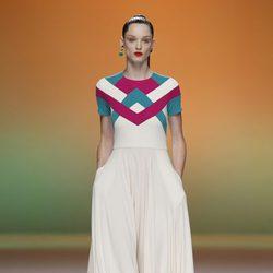 Vestido blanco largo de Davidelfín, colección primavera 2012