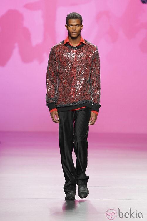 Jersey de lentejuelas de Montesinos, colección primavera 2012
