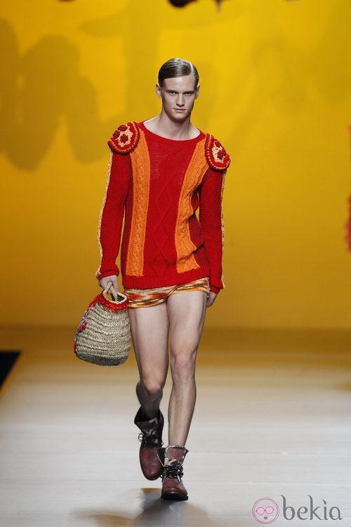 Jersey rojo y naranja de Montesinos, colección primavera 2012