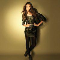 Vestido de cuero de Stradivarius, lookbook septiembre de 2011