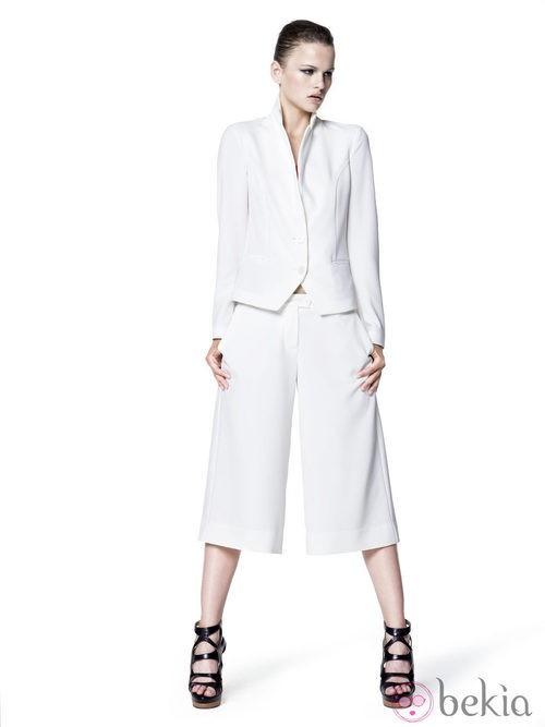 Total look blanco de Sisley para primavera/verano 2014