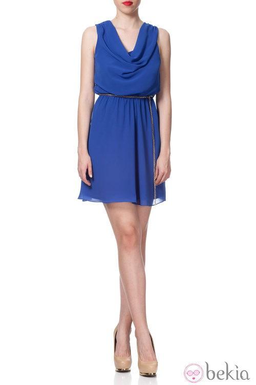 Vestido corto azul klein de la Colección Crucero 2014 de Poète