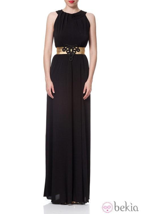 Vestido griego en negro de la Colección Crucero 2014 de Poète
