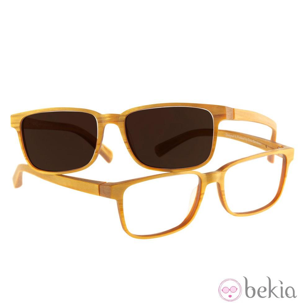 Gafas con montura amarilla y lente negra de Transitions y Etnia ...