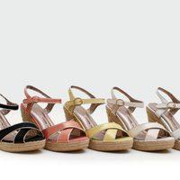 Sandalias con cuña de esparto de la colección verano 2014 de Trendy Too