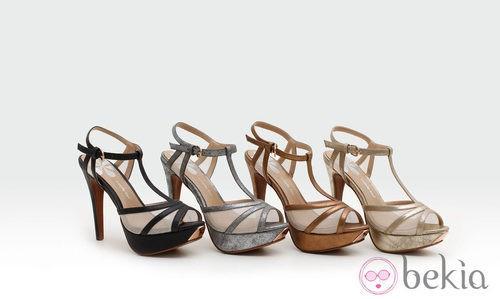 Sandalias con plataforma metalizadas de la colección verano 2014 de Trendy Too