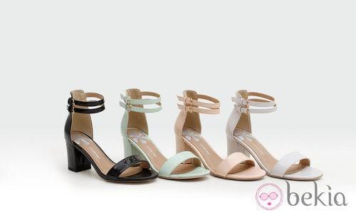 Sandalias con tacón cuadrado bajo de la colección verano 2014 de Trendy Too