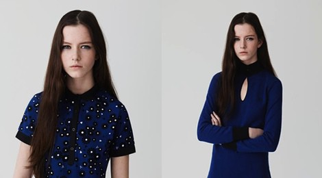 Azul y negro, dos colores muy presentes en la colección otoño/invierno de Fred Perry
