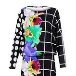 Vestido de cuadros, flores y lunares de la colección otoño/invierno 2014 de Desigual