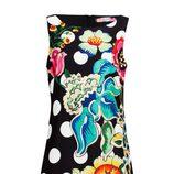 Vestido con estampado floral y de lunares de la colección otoño/invierno 2014 de Desigual