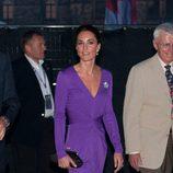 Kate Middleton deslumbrante de morado