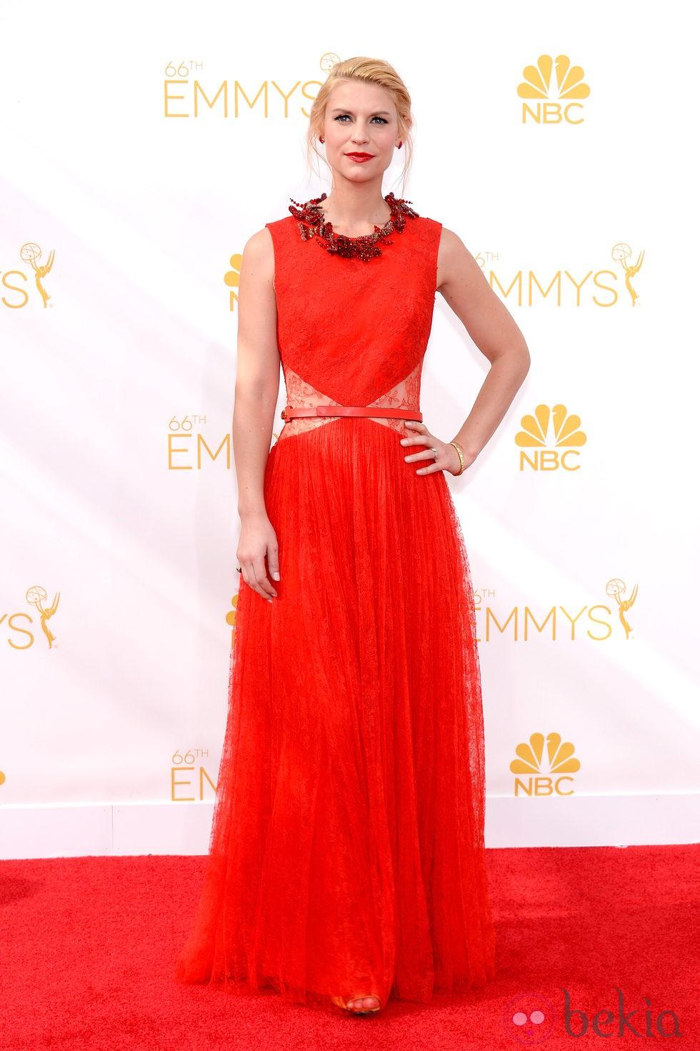 January Jones y Claire Danes, de rojo en los Premios Emmy 2014