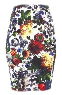 Print floral en las faldas de la colección otoño/invierno 2014 de Barbarella