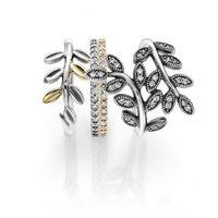 Anillos de plata y oro de la colección 'Hojas de Otoño' para otoño 2014 de Pandora